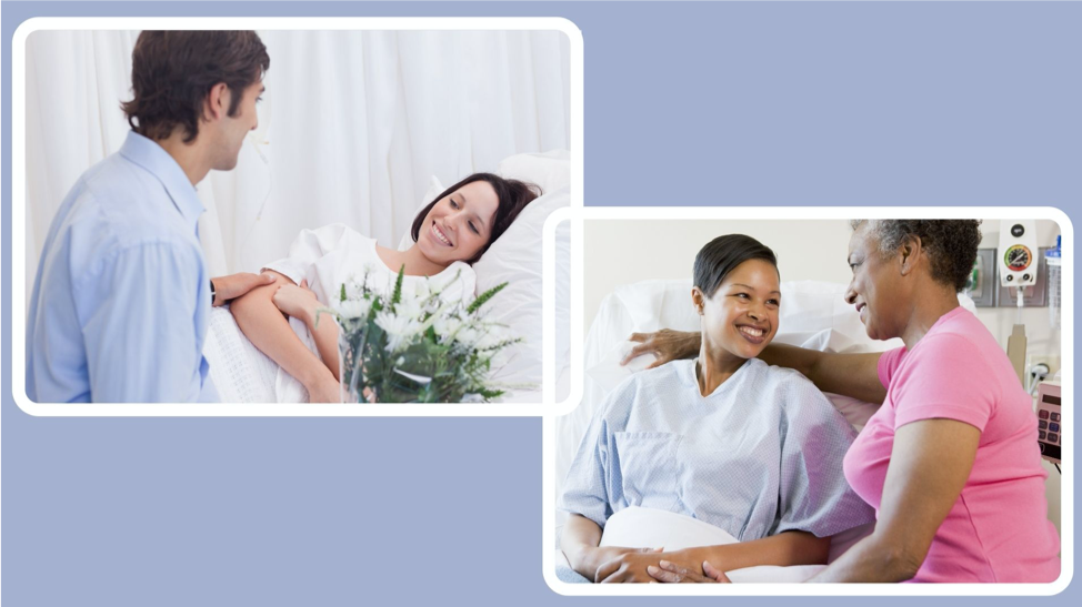 Can I have someone stay with me in the hospital after breast reconstruction surgery?